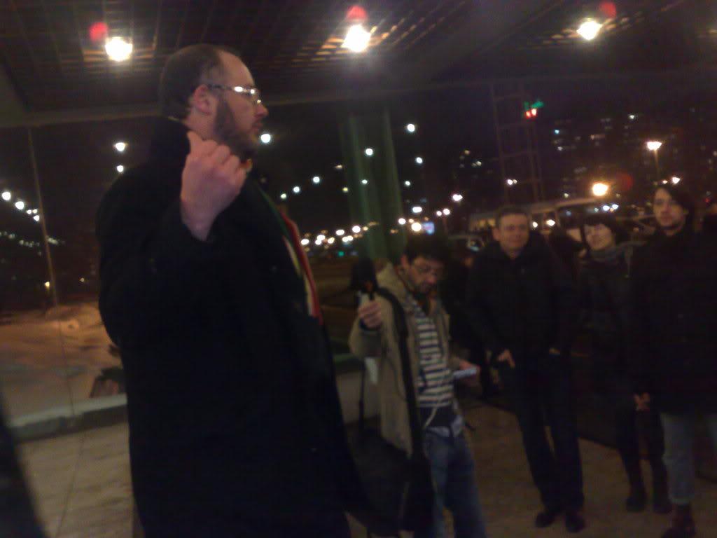 Boris_Milićević na protestu ispred Sava centra