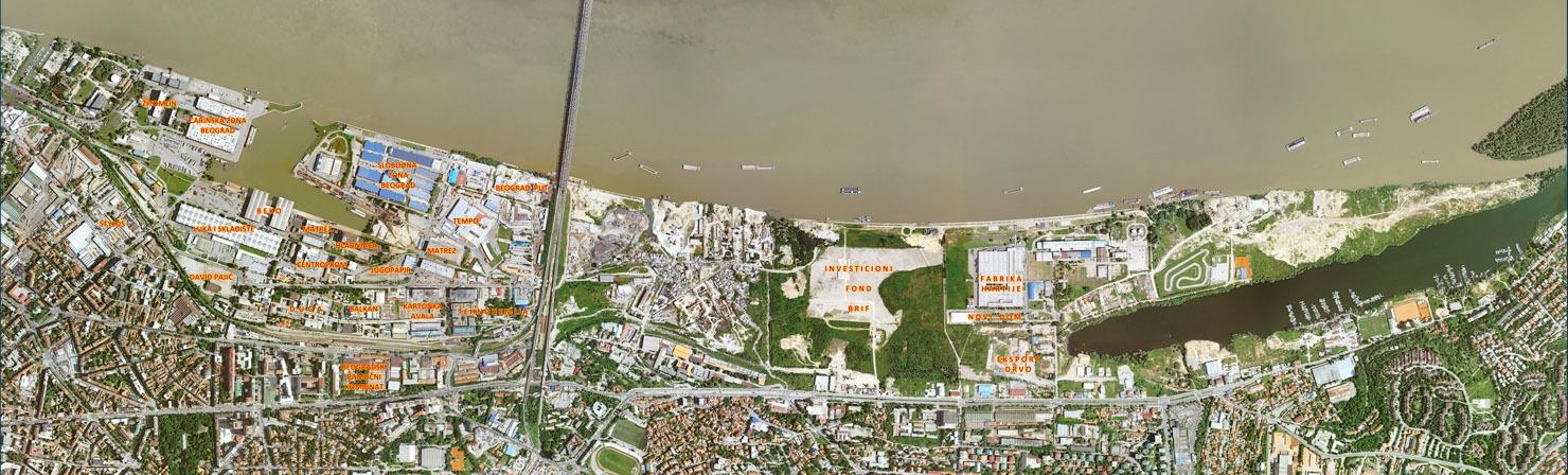 Detaljna mapa Luke Beograd