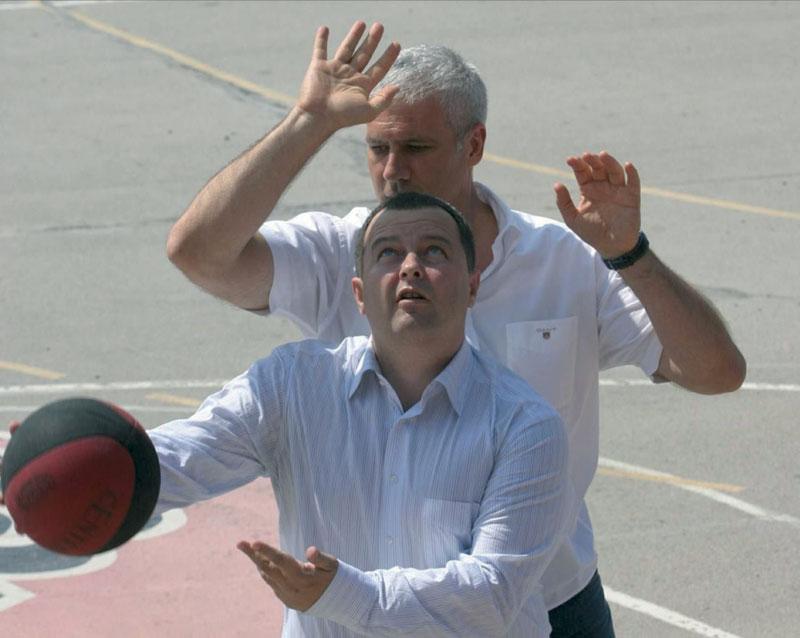 Drugari basketaši: Ivica Dačić i Boris Tadić