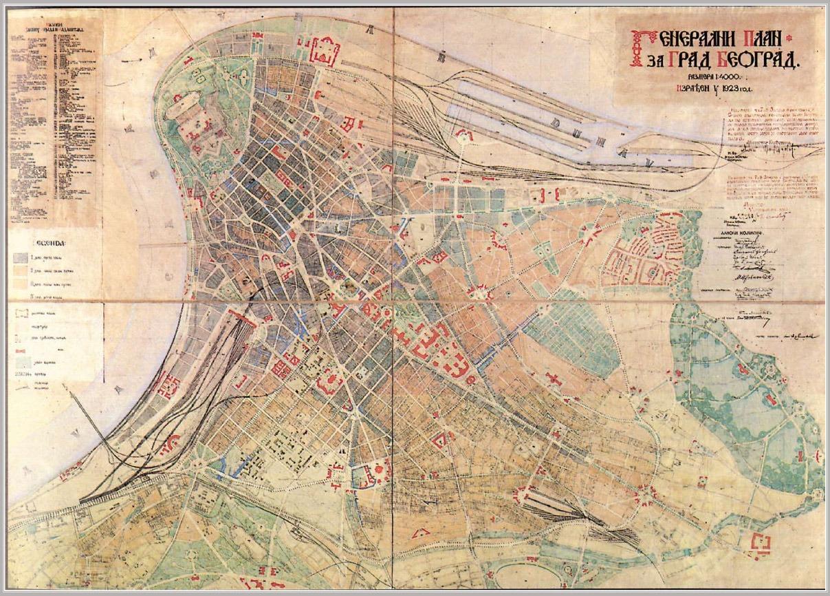 Generalni urbanistički plan  Beograda 1923.